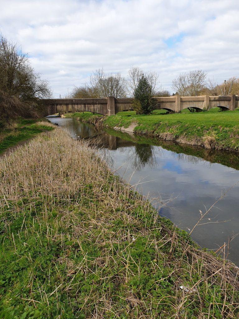 The River Cole and bridge