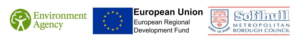 Funding organisation logos - Environment Agency, ERDF, SMBC